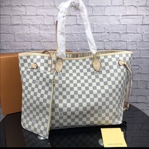 Louis Vuitton neverfull azur tote bag